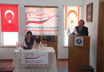 Kıbrıs türk rus iş konseyi başkanı çetin atalay basın