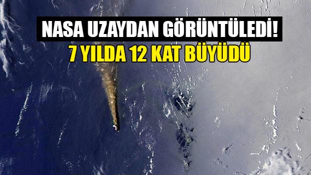 Volkanik ada 7 yılda 12 kat büyüdü (NASA uzaydan görüntüledi)