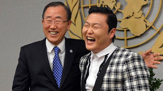 Birle�mi� Milletler Genel Sekreteri Gangnam Style Dans� Yapt�